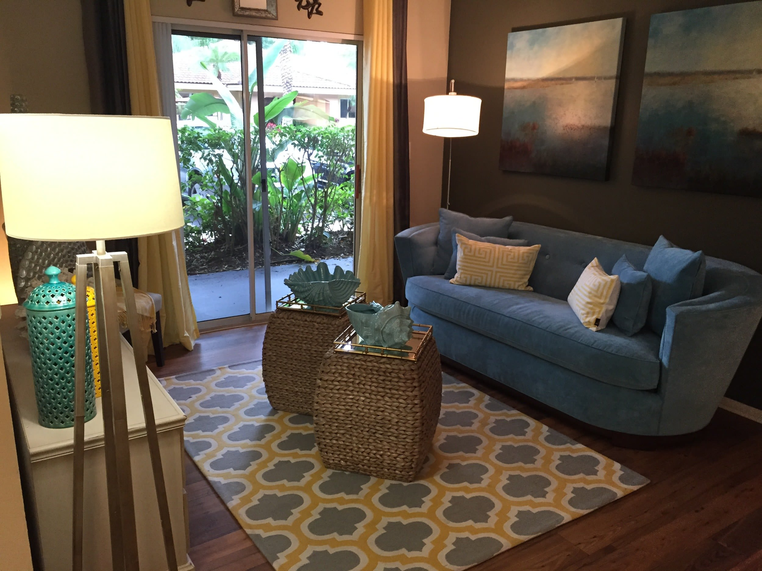 Living Room at Fairway View Apartments in Hialeah, Florida