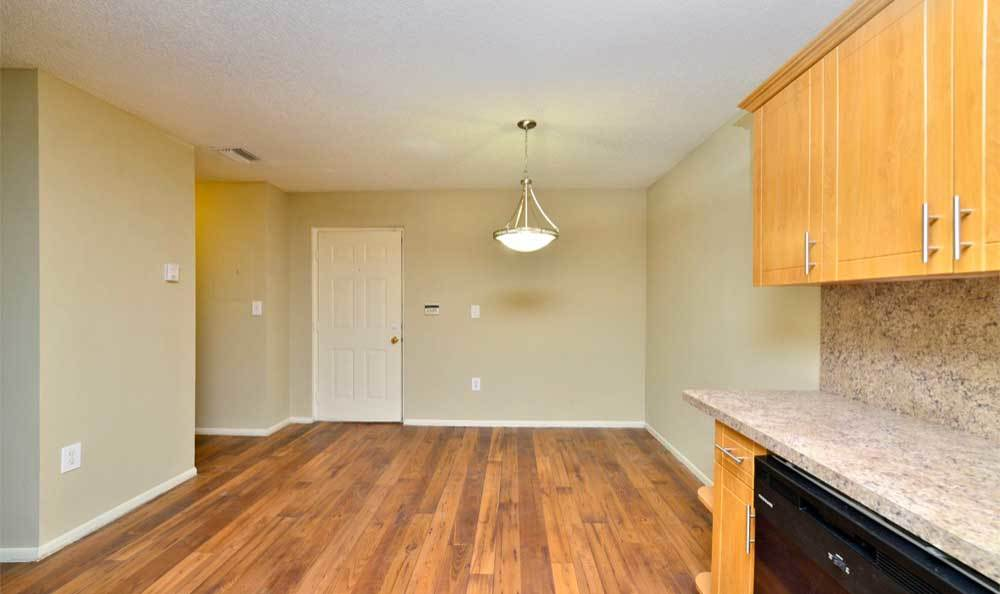 Kitchen and Living Space at Fairway View Apartments