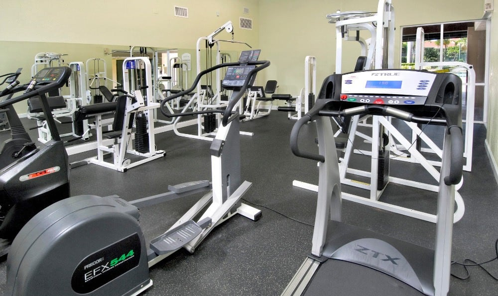 Fitness Center at Azalea Village Apartments in West Palm Beach.