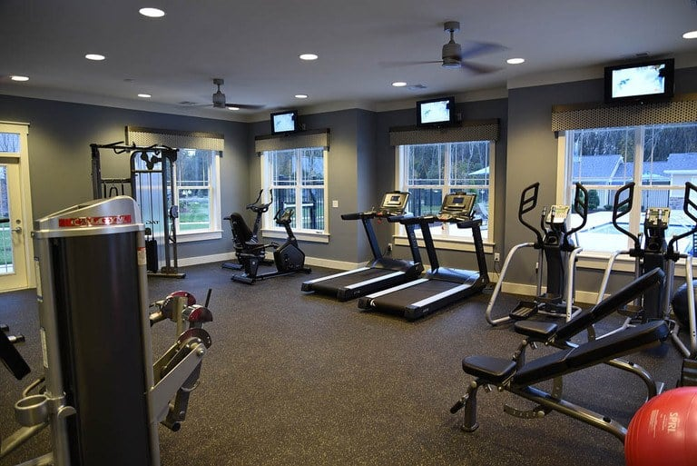 Stay healthy in our well equipped fitness center at Addison Court
