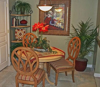 All the apartment homes at The Vinings at Newnan Lakes have ample living spaces.