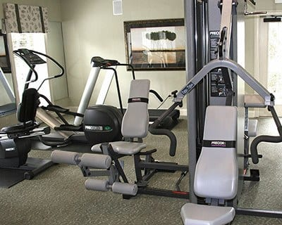 The fitness center at The Vinings at Newnan Lakes has all the equipment you need to get and stay fit!