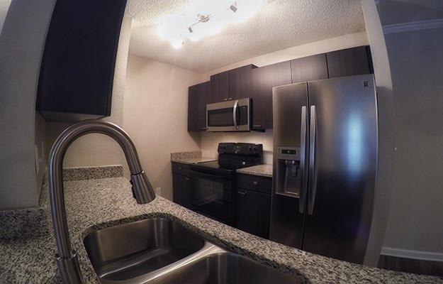 Enjoy your kitchen complete with stainless steel appliances