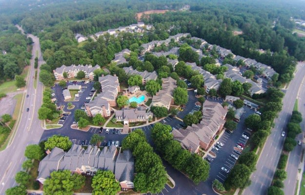 Skyview of our beautiful apartment community in Raleigh, NC