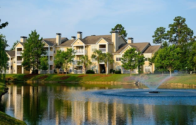 The landscaping at our luxury apartment community in Myrtle Beach is always top notch.