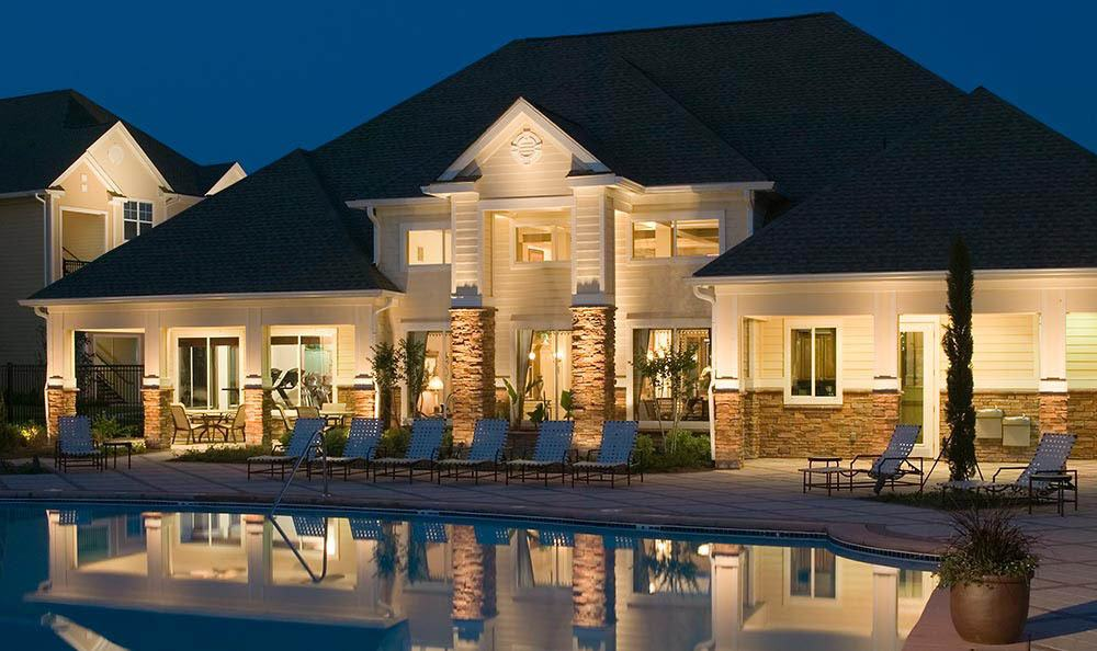 Night view at The Carlyle at Godley Station in Pooler, GA