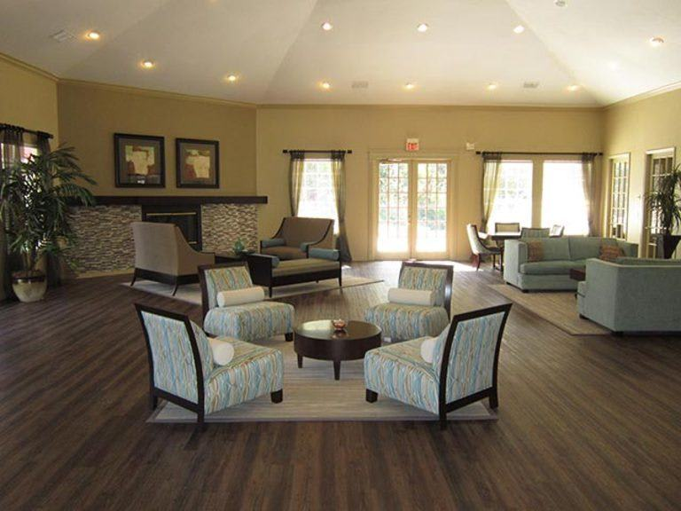 Hardwood floors at apartments in Tampa