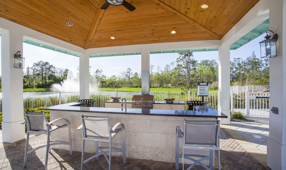 Covered outdoor grilling area at Emerson at Celebration in Celebration, FL