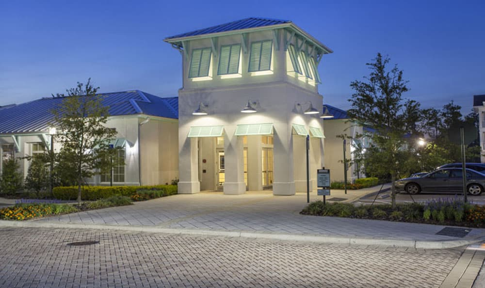 Clubhouse entry at Emerson at Celebration in Celebration, FL