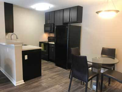 Example kitchen at Palencia Apartments