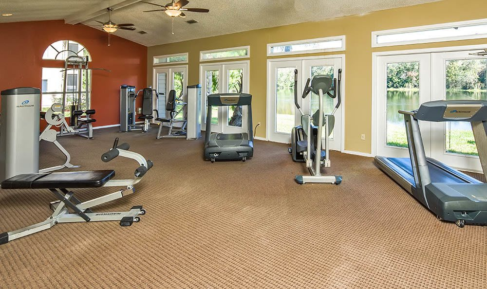 Fitness center at Palencia Apartments in Tampa
