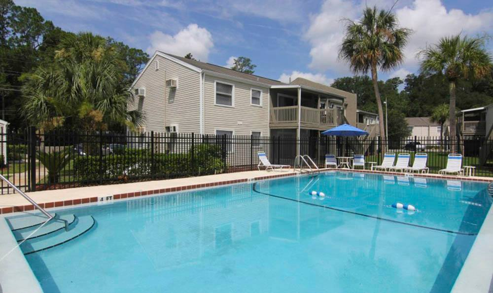 Enjoy the pool at Creekwood Apartment Homes in Jacksonville