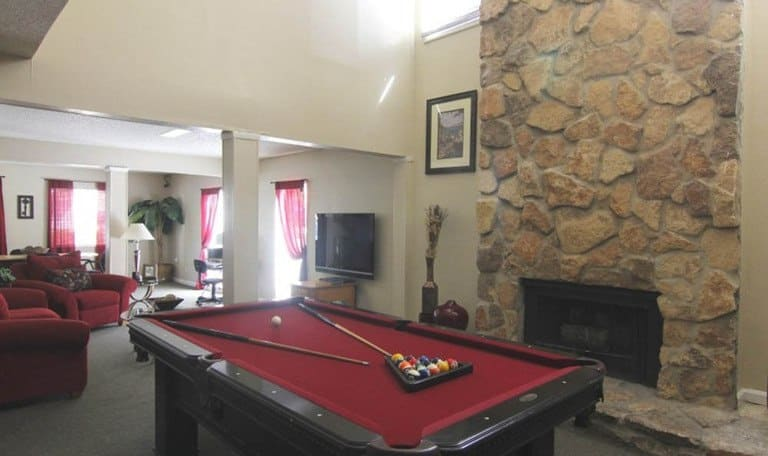 Pool tables at Creekwood Apartment Homes