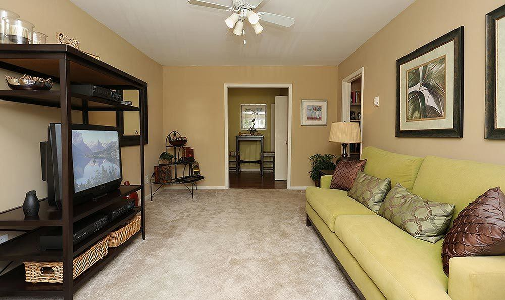 Living room at Brookview Apartment Homes