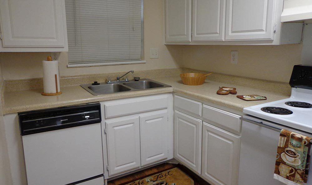 Kitchen at apartments in GA
