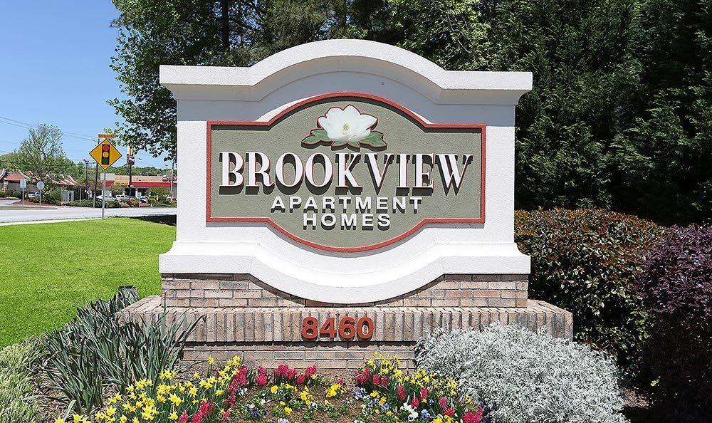 Signage at Brookview Apartment Homes