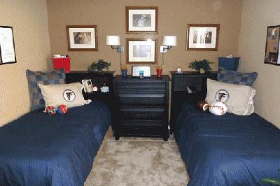 Bedroom at apartments in Douglasville, GA