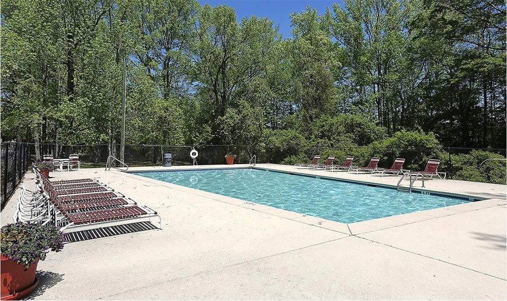 Pool at apartments in Douglasville, GA