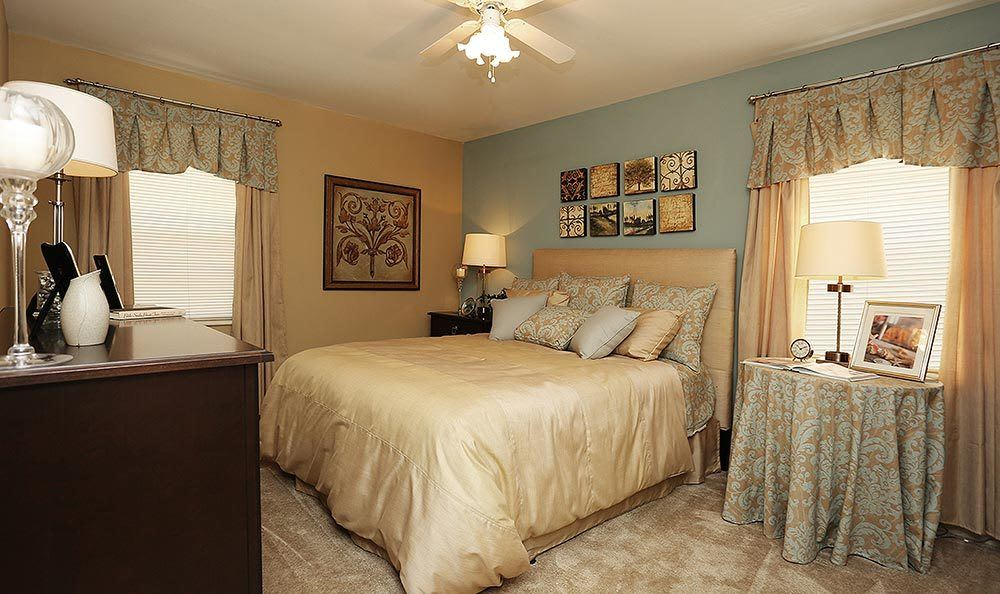 Spacious master bedroom at Brookview Apartment Homes