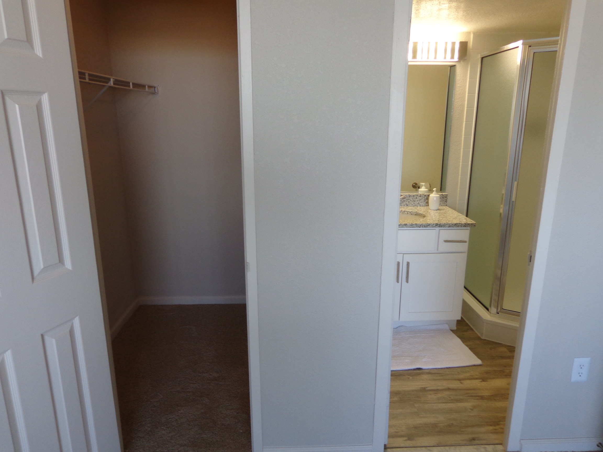 Closet and Bathroom at Hague Towers in Norfolk, Virginia