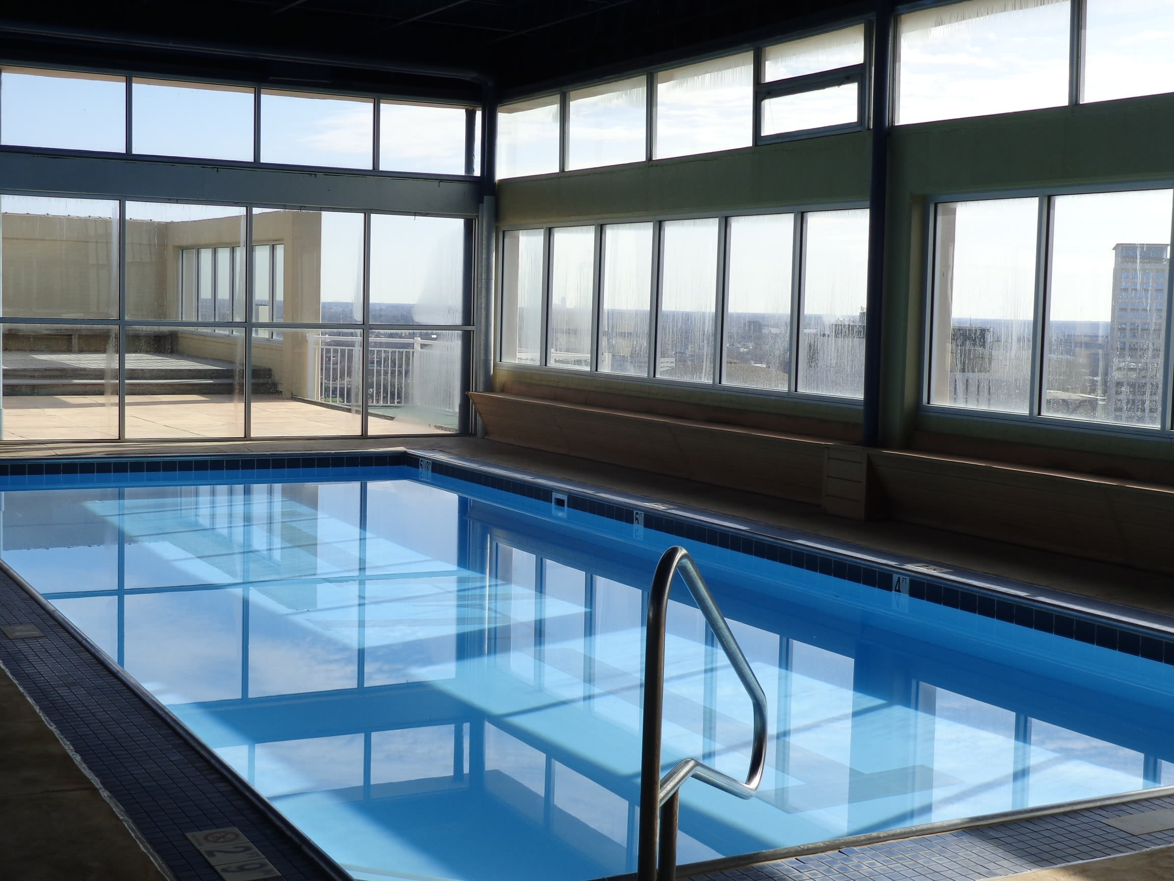 Indoor Swimming Pool at Hague Towers in Norfolk, Virginia