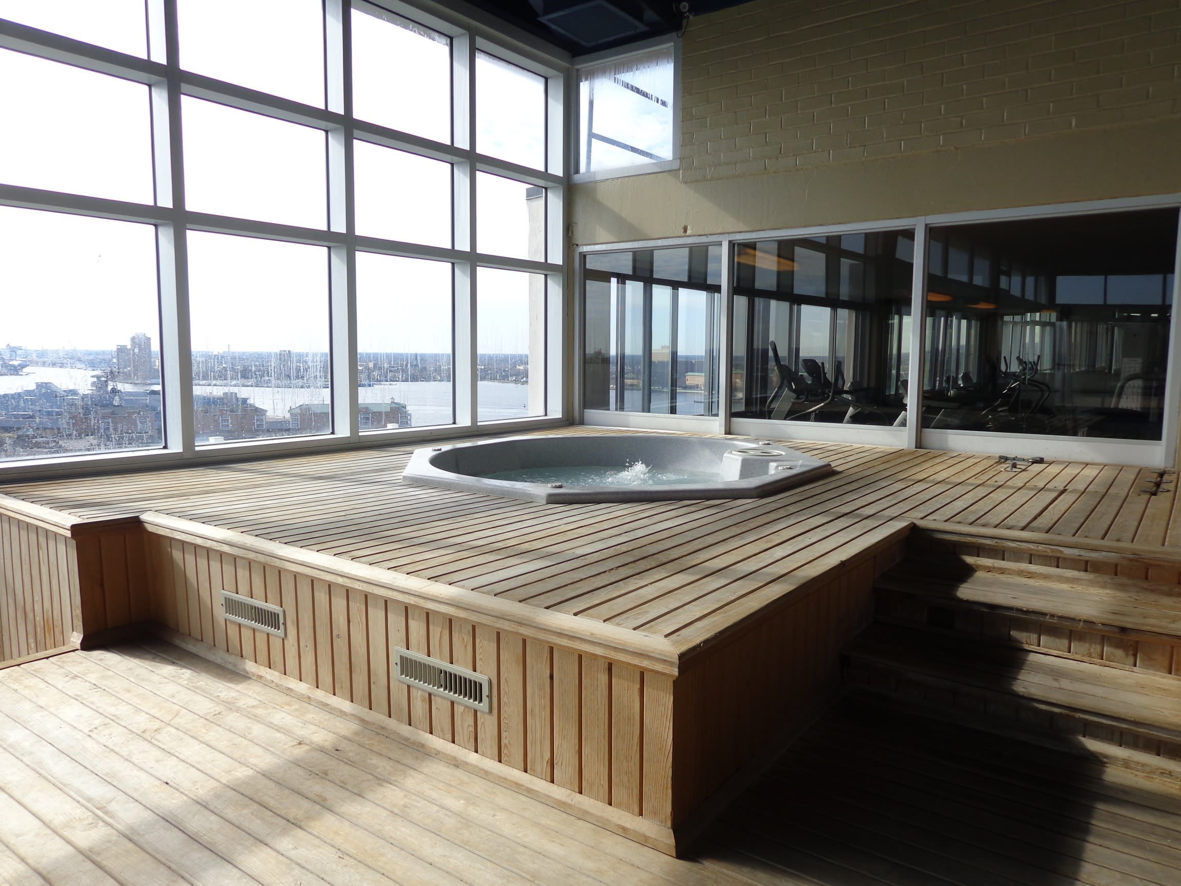 Hot Tub at Hague Towers in Norfolk, Virginia