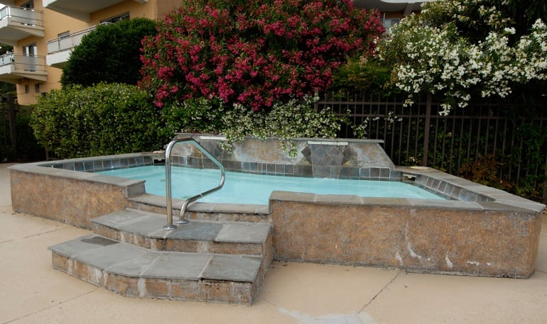 Hot tub at Pembroke Towers apartments in Norfolk, Virginia