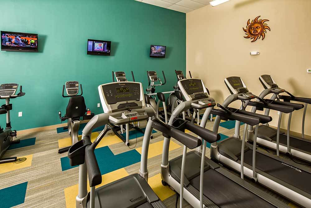 The gym at Park East Apartments is perfect for anyone.