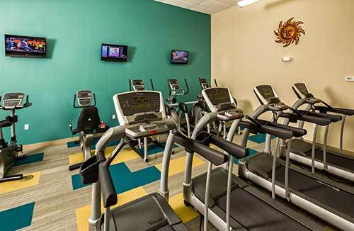 Park East Apartments will get your heat pumping with their cardio and gym equipment!