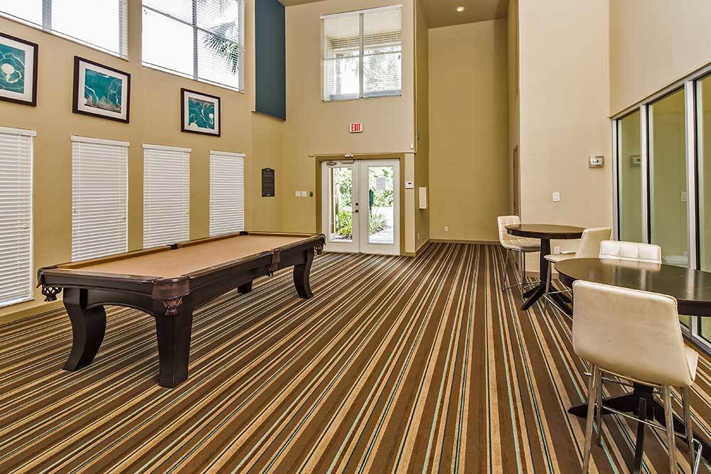 Play a game of billiards at Park East Apartments!