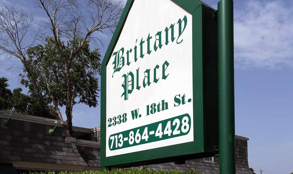 Brittany Place Apartments Sign