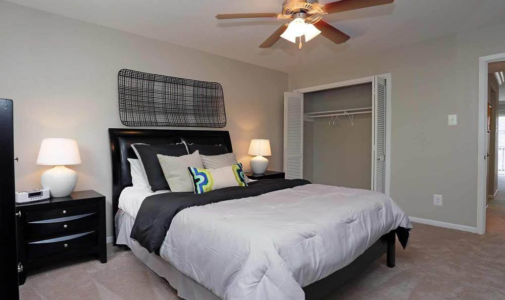 Bedroom at Brittany Place Apartments in Houston, Texas