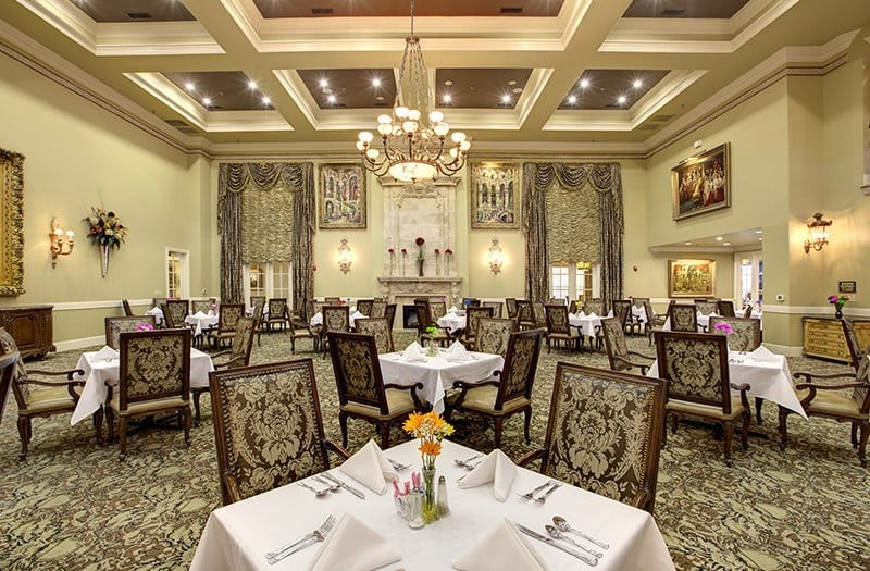 The grandeur of our main dining room has to be experienced here at our senior living community in Plano, TX.