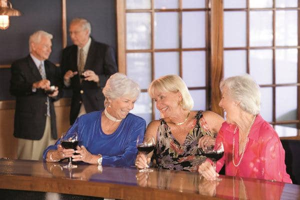 Active senior living residents in Plano enjoy elegant social activities