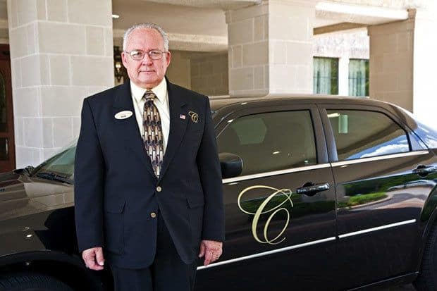 Chauffeured transportation for senior living residents in The Woodlands