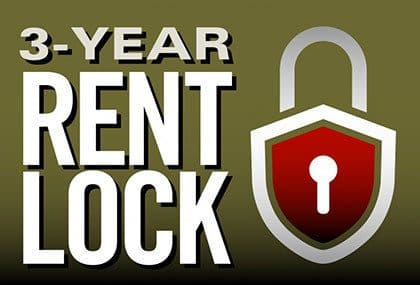 Secure your rent for 3 years