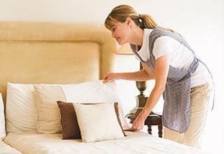 Senior living linen service in Spring