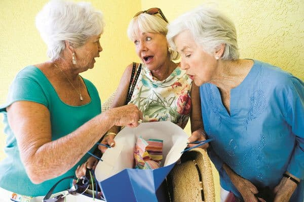 Lots of wonderful activities for seniors including shopping