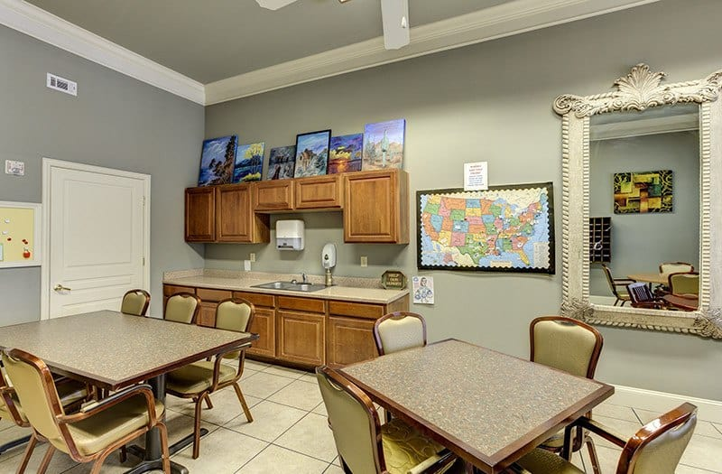 Our Card & Game room is also the perfect place for arts and crafts here at Conservatory At Keller Town Center.