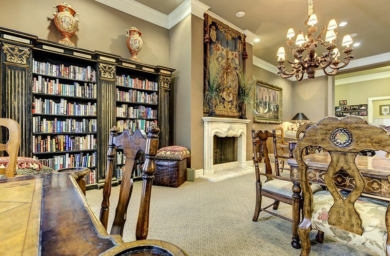 You have to see the luxury and beauty of our library to believe it here at our senior living community in Keller, TX.
