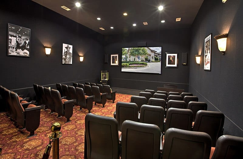 The theater at Conservatory At Keller Town Center will make you think you're at the cinema!