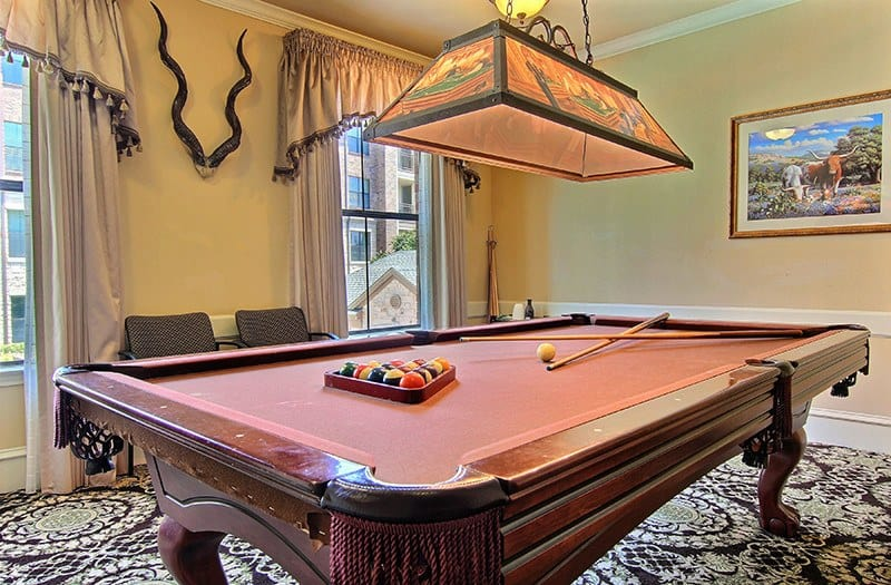 Challenge your new friends and neighbors to a round of pool in our Billiards Room here at Conservatory at North Austin.