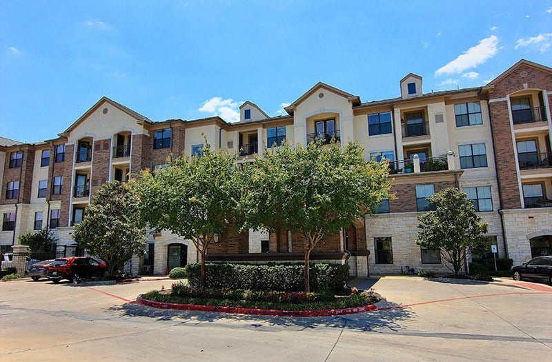 Exterior view of the entrance to our senior living community in Austin, TX.