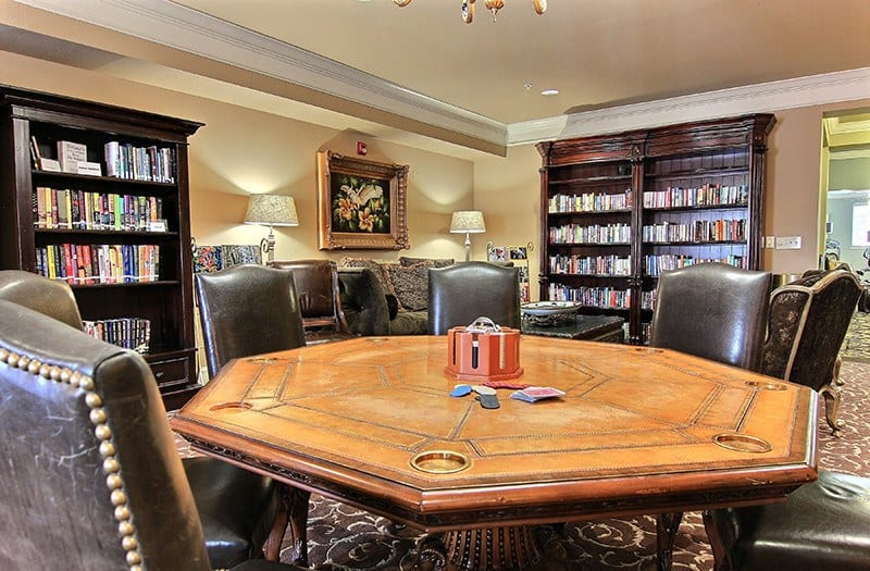 The Library and Game Room at Conservatory at North Austin is a wonderful place to enjoy a book, or perhaps play your favorite game with your new friends and neighbors.