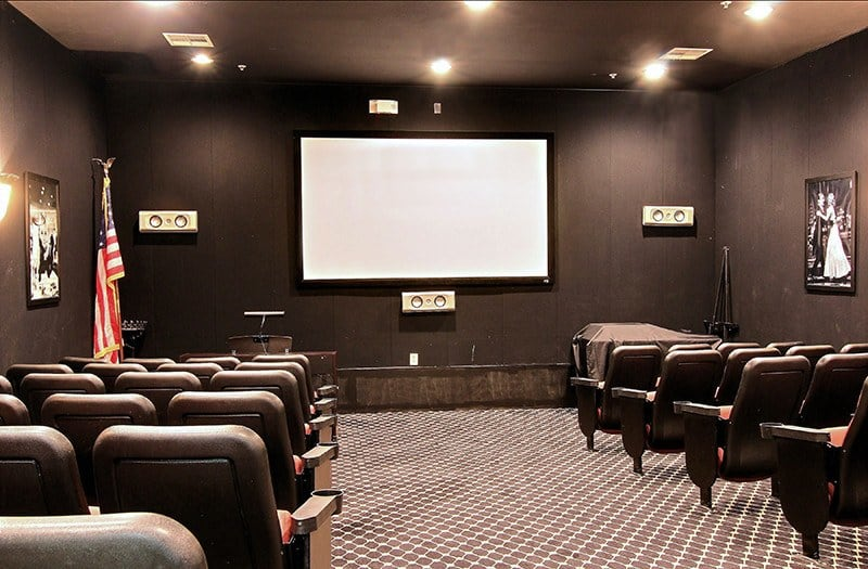 You'll feel like you're at the cinema in our well-appointed theater here in Austin, TX.