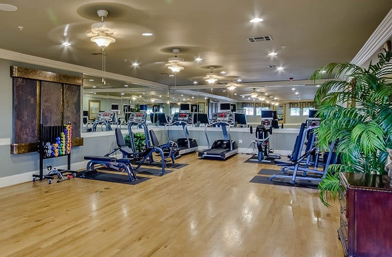 Get your exercise in our fully equipped fitness center at our senior living community in Spring, TX.