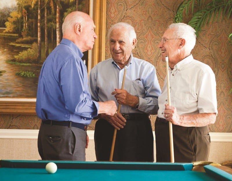 A game of billiards with friends is a popular activity here at Conservatory At Keller Town Center.