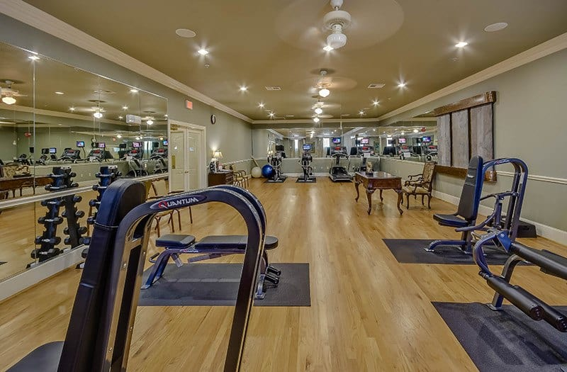 There's something for everyone in our fitness center at Conservatory At Alden Bridge in The Woodlands.