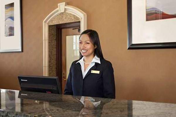 Ready to help you at our friendly front desk here at Conservatory At Champion Forest.