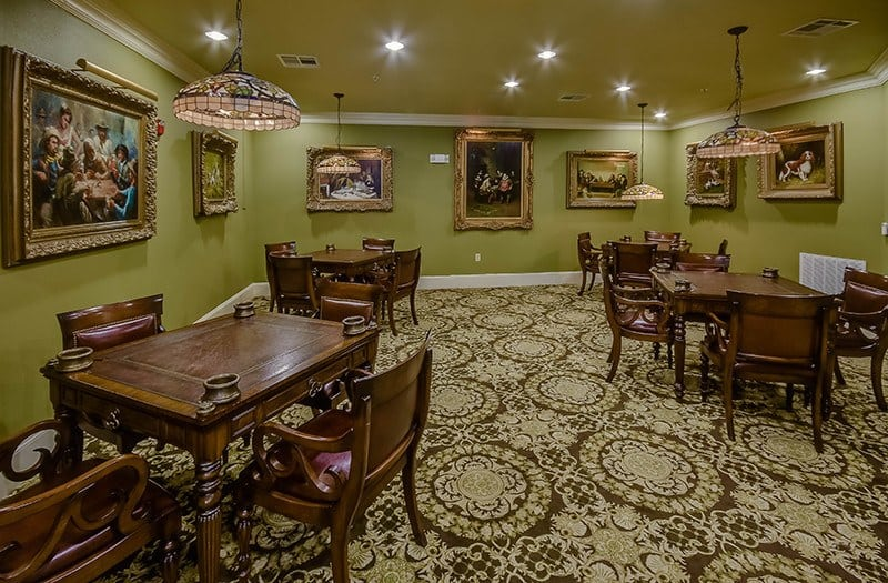 Many enjoyable evenings ahead in the game room at our senior living community in The Woodlands, TX.